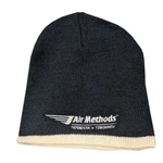 AMK49<br>Navy Knit Cap w/Trim